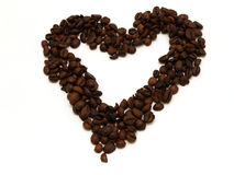 kawowy serce Zdjęcia Royalty Free