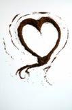 Kawowy serce Zdjęcie Royalty Free