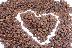 Kawowy serce Fotografia Stock