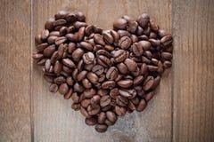 Kawowy serce Obrazy Royalty Free