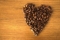 Kawowy serce Obraz Royalty Free