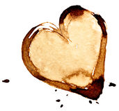 Kawowy serce ilustracji