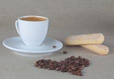 Kawowy serce i filiżanka kawa espresso Obraz Royalty Free