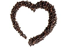 Kawowy serce znak Zdjęcia Royalty Free