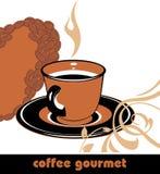 Kawowy smakosz. Tło dla projekta royalty ilustracja