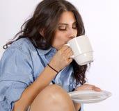 kawowy szczęśliwy ranek Obraz Royalty Free