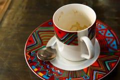 Kawowy szkło Obraz Royalty Free