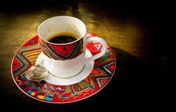 Kawowy szkło Fotografia Royalty Free