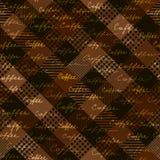 Kawowy szkocka krata wzór Obraz Royalty Free