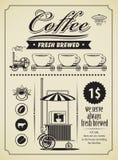 Kawowy sztandar Obrazy Royalty Free