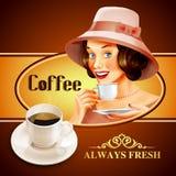 Kawowy sztandar Ilustracja Wektor