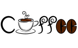 Kawowy sztandar & logo Zdjęcie Royalty Free