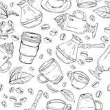 Kawowy tło wzór royalty ilustracja
