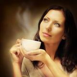 Kawowy tło Zdjęcia Royalty Free