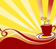 Kawowy tło loga wektor Obrazy Royalty Free