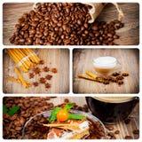 Kawowy tematu set Obrazy Royalty Free