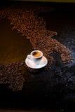 kawowy włoch Obrazy Royalty Free
