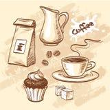 Kawowy wektoru set Obraz Royalty Free
