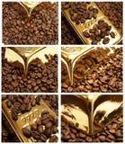 kawowy złoto Zdjęcia Royalty Free