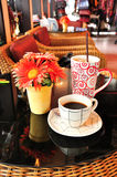 kawowy zimny gorący sklep Zdjęcie Stock