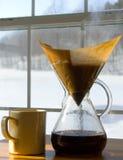 kawowy zimny ranek Zdjęcie Stock