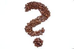 Kawowy znak zapytania Zdjęcie Royalty Free