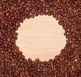 Kawowych fasoli rama Obrazy Royalty Free