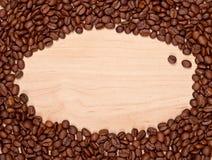 Kawowych fasoli rama Fotografia Stock