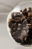 Kawowych fasoli słój Zdjęcie Stock