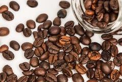 Kawowych fasoli słój Obrazy Royalty Free