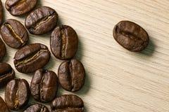 Kawowych fasoli zakończenie Makro- Obraz Royalty Free