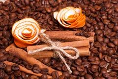 Kawowych fasoli zamknięty up Fotografia Royalty Free