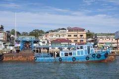 KAWTHAUNG,缅甸- 2016年1月12日:码头在Kawthaung Myanma 免版税库存照片