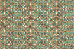 Kawung Batik Pattern - cotton. An Indonesian Batik Pattern named Kawung Royalty Free Stock Image