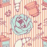 kawy bezszwowy deseniowy ilustracja wektor