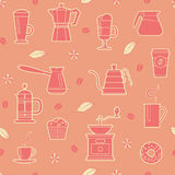kawy bezszwowy deseniowy Fotografia Stock