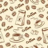 kawy bezszwowy deseniowy Fotografia Royalty Free
