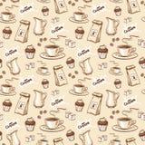 kawy bezszwowy deseniowy Obraz Royalty Free