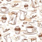 kawy bezszwowy deseniowy Obrazy Royalty Free