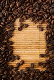 kawy bobowa rama Fotografia Stock