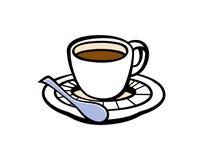 Kawy espresso filiżanki ilustracja Obrazy Stock