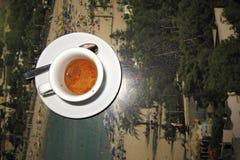Kawy espresso kawa dla śniadania Fotografia Stock