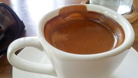 Kawy espresso kawa w białej filiżance obrazy royalty free