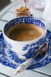 Kawy espresso kawowy ustawiający na bielu stole Obraz Royalty Free