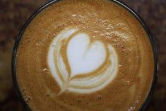 Kawy espresso latte sztuka Obraz Stock