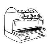 Kawy espresso maszyna, kawowa maszyna, Fotografia Stock