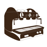 Kawy espresso maszyna, kawowa maszyna, Obraz Stock