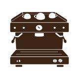 Kawy espresso maszyna, kawowa maszyna, wektor Obrazy Royalty Free
