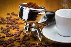 Kawy espresso maszyny przywódca grupy Zdjęcie Stock