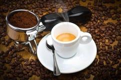 Kawy espresso maszyny przywódca grupy Obrazy Royalty Free